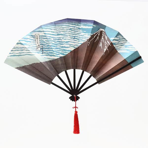 伏見上野 飾り扇子 版画扇 北斎赤富士