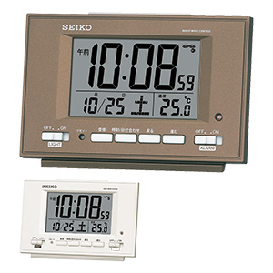 セイコークロック 目覚まし時計 自動点灯機能付き SQ778