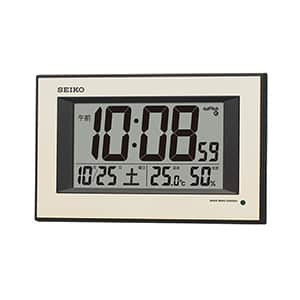 セイコークロック デジタル電波掛け時計 自動点灯機能付き SQ438G