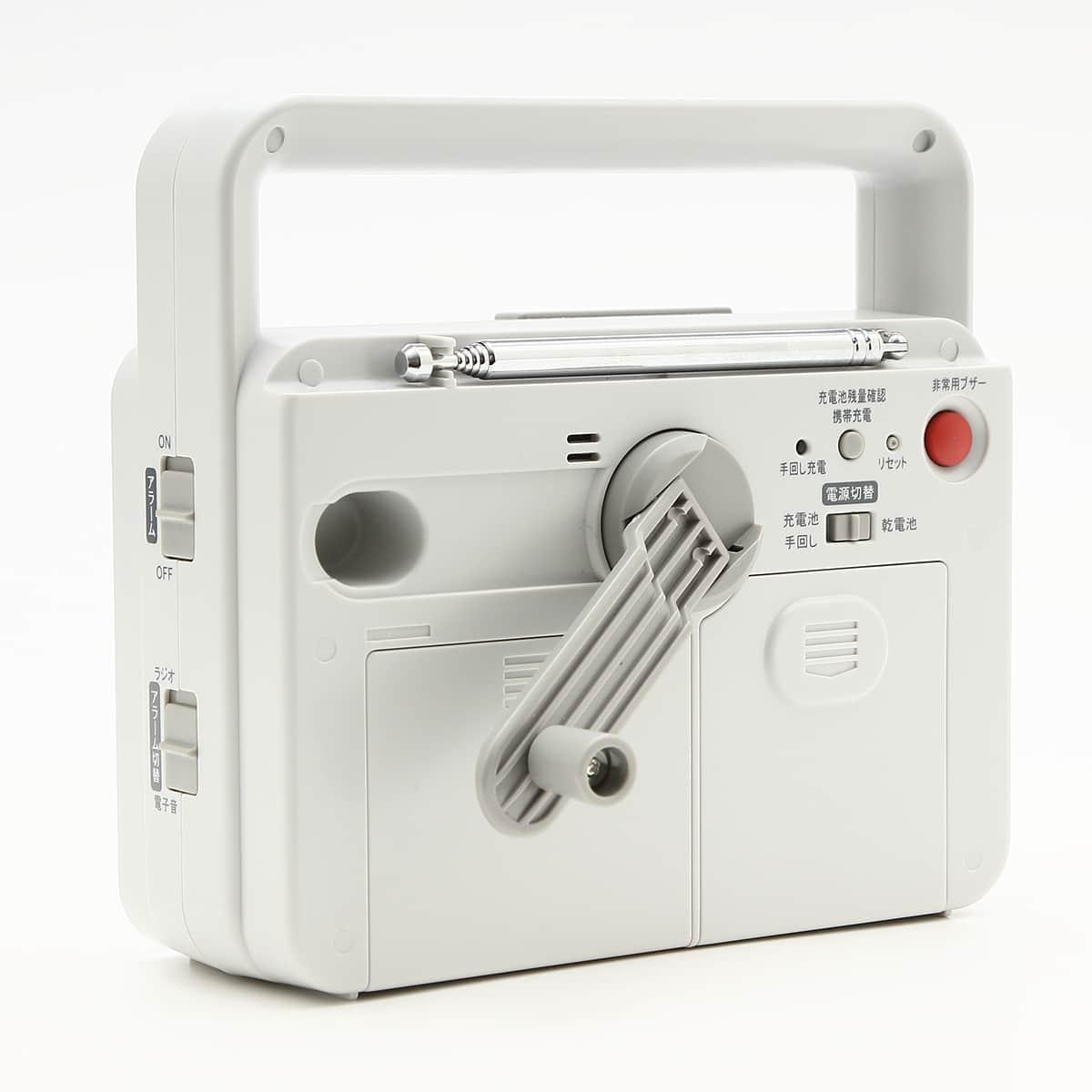 セイコー 手回し充電付き防災時計 ラジオ携帯充電付き KR885N