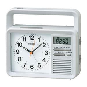 セイコークロック 手回し充電付き防災時計 ラジオ携帯充電付き KR885N