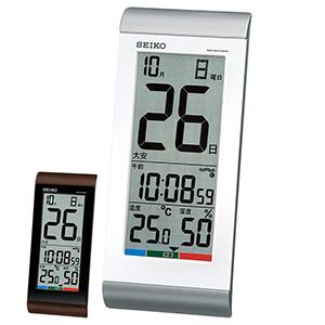 セイコー 日めくりタイプ電波時計 高精度温湿度表示 SQ431