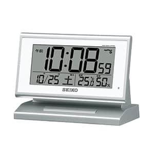 セイコークロック 自動点灯電波デジタル目覚まし時計 SQ768S