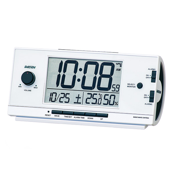 セイコータイムクリエーション社製 ライデン 大音量デジタル電波目覚まし時計 NR534
