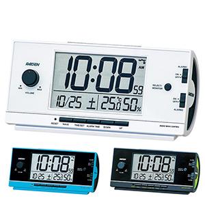 セイコークロック社製 ライデン 大音量デジタル電波目覚まし時計 NR534