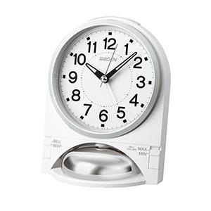 セイコークロック社製 ライデン 大音量アナログ目覚まし時計 NR436