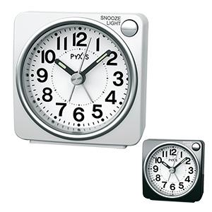 セイコークロック社製 PYXIS(ピクシス) ライト付き目覚まし時計 NR437