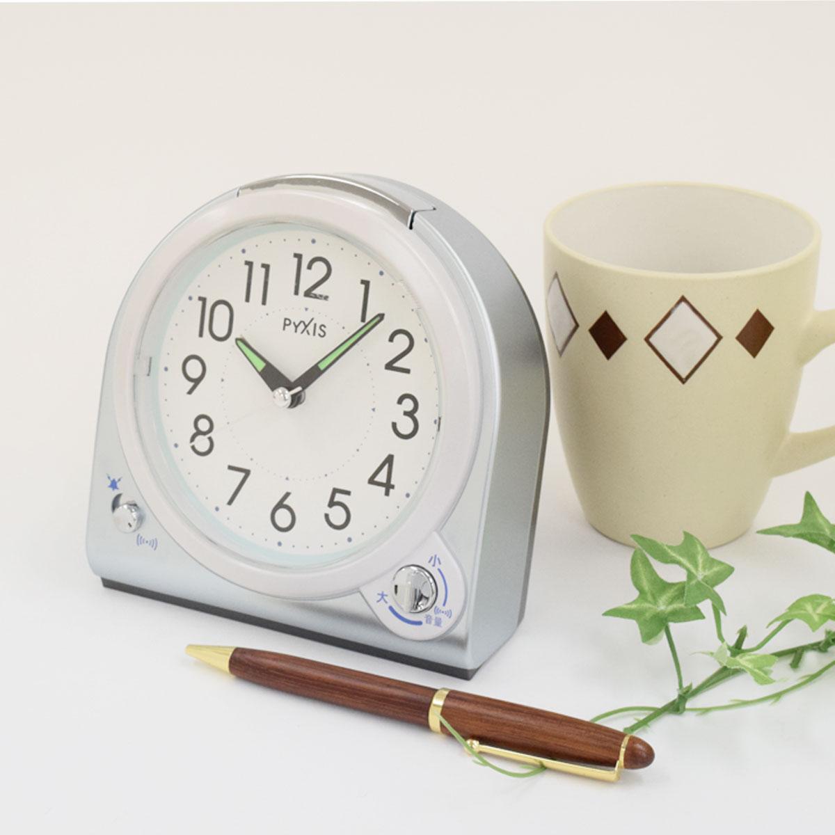 セイコークロック社製 PYXIS(ピクシス) 目覚まし時計 NQ705