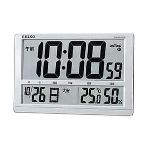 セイコークロック 温湿度表示付電波時計 掛け置き兼用 SQ433S