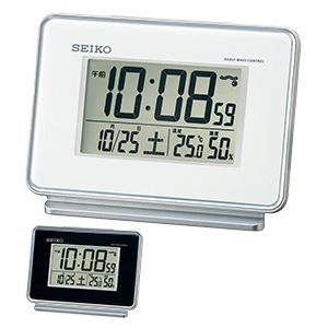 セイコークロック 電波デジタル時計 2chアラーム温湿度表示 SQ767