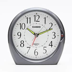 カシオ アナログ目覚まし時計 ベル音タイプ メタリッグレー TQ-378-8JF