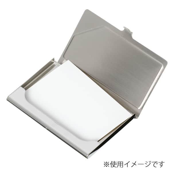 カーボン&ステンレスカードケース 黒 名刺20枚収納