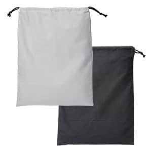 コットン巾着バック L