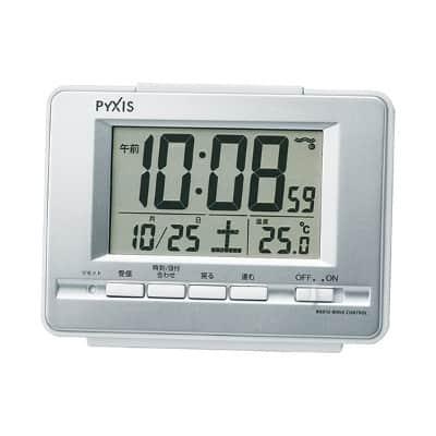 ザ・定番。オフィスでも家庭でも、使う場所を選ばないコンパクトな卓上電波時計 セイコーピクシスNR535W
