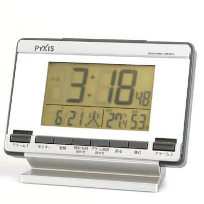 SEIKO PYXIS(ピクシス) 温湿度表示付電波時計 NR529S 包装箱付
