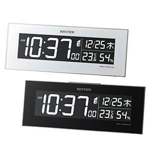 リズム 文字色切り換え 掛け置き兼用電波時計