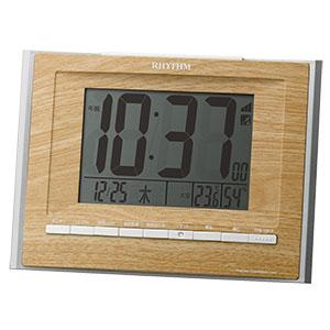 リズム時計 リズム 大型文字版 掛置兼用電波時計 2色展開