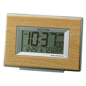 リズム時計 リズム 卓上電波時計 木目調 2色展開