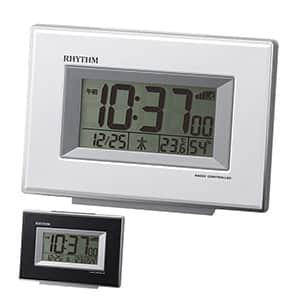 リズム時計 リズム 卓上電波時計 電子音アラーム 4段階切替機能付き 4色展開