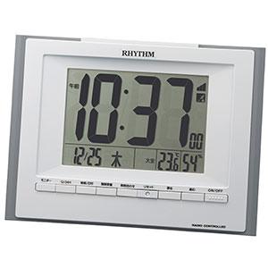 リズム 掛け置き兼用電波時計