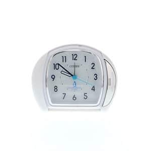 シチズン時計 カバー付き アナログ トラベルクロック 白パール