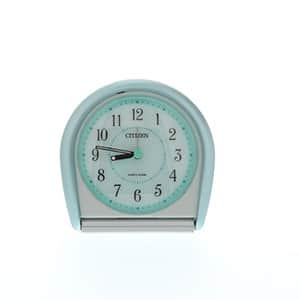 シチズン時計 カバー付き アナログ トラベルクロック 緑メタリック