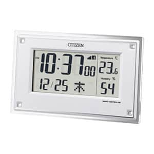 シチズン スワロフスキー・クリスタル付き 卓上電波時計 ホワイト
