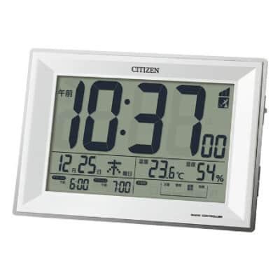 オフィスでもご家庭でも。確かな技術力のシチズン 生活環境お知らせ機能付き 卓上電波時計