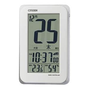 シチズン 日めくりカレンダー 掛け置き兼用電波時計 ホワイト 大画面