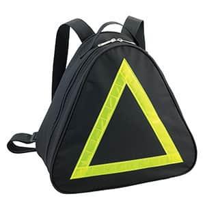 両リュック 蛍光シール付き ピラミッド型バック