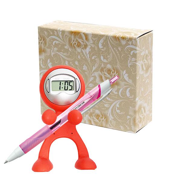 クロックレンジャー+三菱鉛筆 ジェットストリームボールペンセット 包装箱付