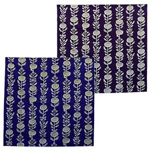 ふろしき 中巾 菊 群青色 濃紫