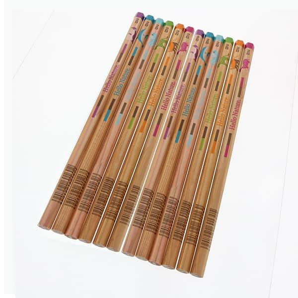 トンボ鉛筆 動物柄の鉛筆ギフトセット 12本+消しゴム