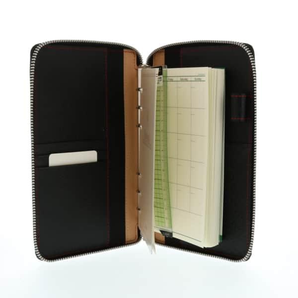 ダ・ヴィンチグランデ ピッグスキン 本革システム手帳 聖書サイズ ラウンドファスナータイプ 15mmリング