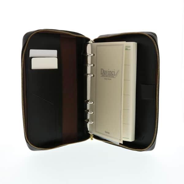 ダ・ヴィンチ 本革システム手帳 聖書サイズ ラウンドファスナータイプ 24mmリング