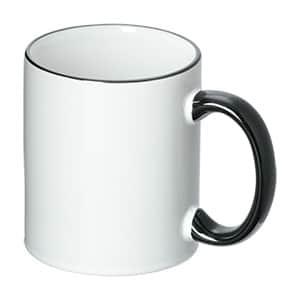 名入れ用マグカップ ブラックハンドル 350ml