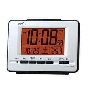 セイコークロック社製 PYXIS(ピクシス)温度表示付電波時計 NR536W