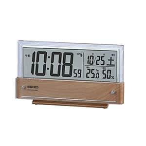 セイコークロック デジタル電波時計 温度・湿度表示つき 卓上 SQ782B