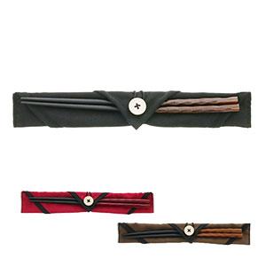 マイ箸セット 天然木の染分彫+箸袋