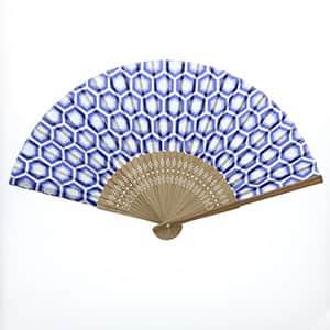 日本の伝統柄扇子 亀甲柄