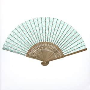 日本の伝統柄扇子 青海波柄