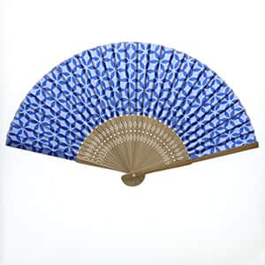 ヤマックス 日本の伝統柄扇子 七宝柄