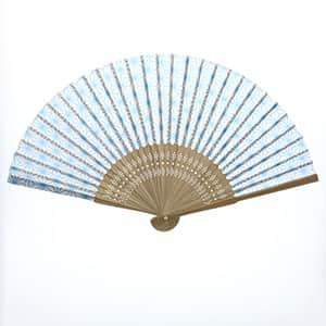 日本の伝統柄扇子 麻の葉柄