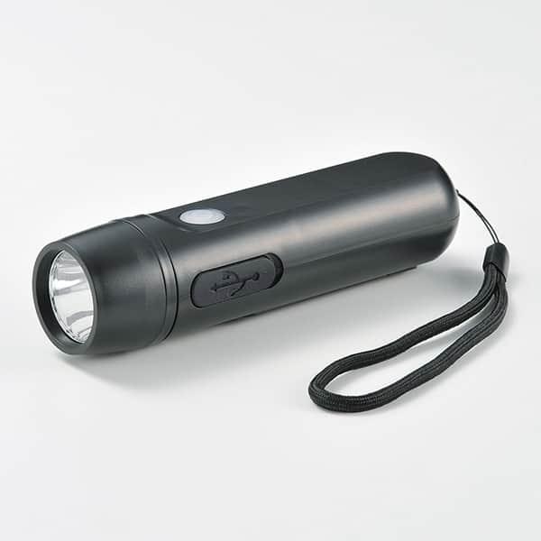 スマホ充電ダイナモライト 手回し蓄電 点滅灯