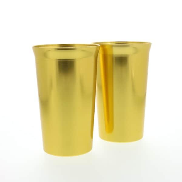 金色(こんじき)のペアタンブラーセット 250ml アルミ 冷水専用