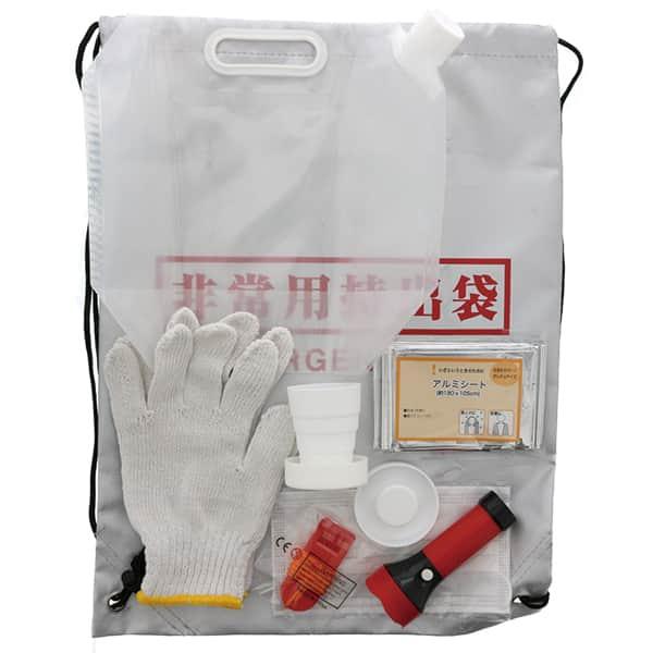 災害に備えて家に置いておきたい、非常用持ち出し袋9点セット