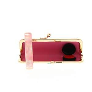 シヤチハタ おしゃれはんこ がま口ケースセット 桜(にじみ)印鑑12mm+がま口ケース