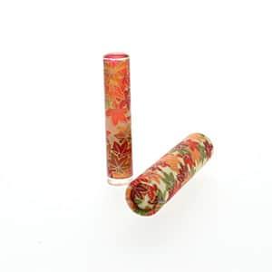 シヤチハタ おしゃれはんこ 和紙筒セット 紅葉 印鑑12mm+筒ケース