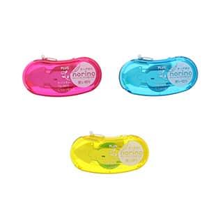 プラス ノリノ ビーンズ しっかり貼れるテープのり 本体3色展開