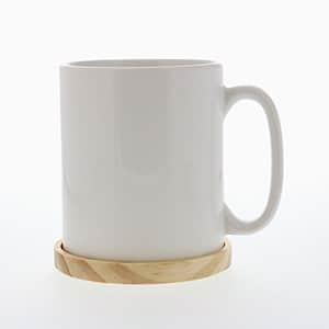 木製コースター付きマグカップ